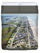 Waiting For You Topsail Island Duvet Cover