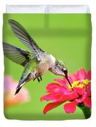 Waiting In The Wings Hummingbird Square Duvet Cover