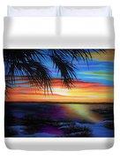 Wakulla Beach Morning Duvet Cover