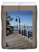 Walk Along The Fear River - Wilmington Duvet Cover