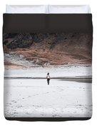 Walk At The Beach  Duvet Cover