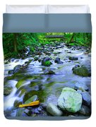 Walk Bridge Over Moffit Creek Duvet Cover