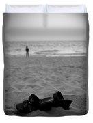 Walk On The Beach Duvet Cover