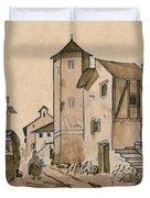 Walk Through Town Classic Duvet Cover