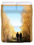 Walk To Mono Lake Duvet Cover