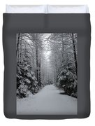Walk With Frost Duvet Cover
