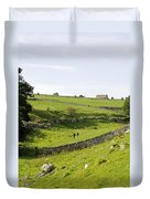 Walkers At Lathkill Dale Duvet Cover