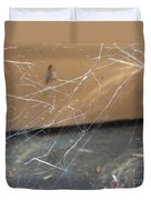 Walkin In A Spider Web Duvet Cover