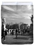 Walking Around Rome Duvet Cover