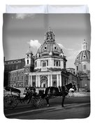 Walking Around The City Of Rome  Duvet Cover