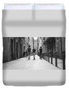 Walking In Barcelona Duvet Cover