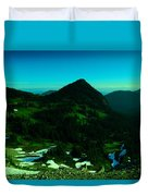 Walking In The Cascades Duvet Cover