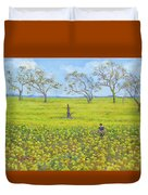 Walking In The Mustard Field Duvet Cover
