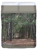Walking In The Pine Forest Duvet Cover