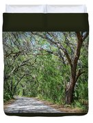 Walking In The Woods Of Amelia Island Duvet Cover