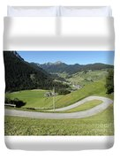 Walking Near Niederdorf In The Dolomites Duvet Cover