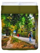 Walking On A Beautiful Path Duvet Cover