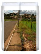 Walking On The Curb Duvet Cover