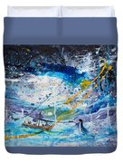 Walking On The Water Duvet Cover