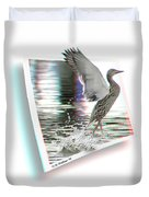 Walking On Water - Use Red-cyan 3d Glasses Duvet Cover