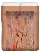 Walking Stick And Pheasant Feather Duvet Cover