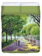 Walking The Mall Duvet Cover