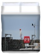 Walking The Pier Wall Duvet Cover