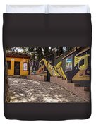 Walking The Streets Of Santa Lucia - 1 Duvet Cover