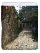 Walking The Streets Of Santa Lucia - 2 Duvet Cover