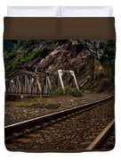 Walking The Tracks Duvet Cover