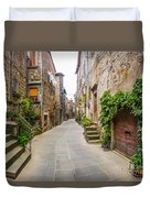 Walking Through Old Europe Duvet Cover