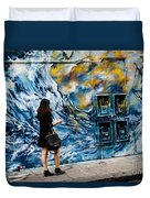 Walking Through The Waves . Duvet Cover