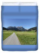 Walking To Niederdorf In The Dolomites Duvet Cover