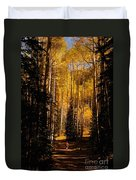 Walking With Aspens Duvet Cover