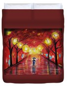 Walking With My Love Duvet Cover