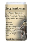 Walking With Nana Duvet Cover
