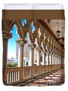 Walkway At The Venetian Hotel Duvet Cover