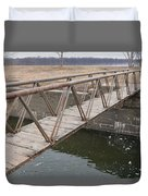 Walkway Over The Canal Duvet Cover