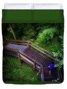 Walkway Tahquamenon Lower Falls Upper Peninsula Michigan Duvet Cover