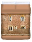 Wall Of Five Windows. Duvet Cover