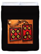 Wall Of Records Duvet Cover