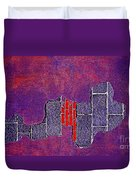 Wall Of Violet Textures Duvet Cover