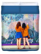 Wall Of Wishes Duvet Cover