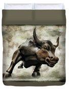 Wall Street Bull Viii Duvet Cover