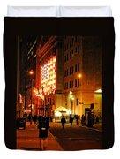 Wall Street Evening Duvet Cover