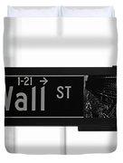 Wall Street Duvet Cover