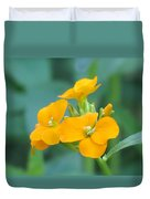 Wallflower Orange Duvet Cover