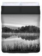 Wallis Sands Marsh Smoke On The Water Rye Nh Black And White Duvet Cover