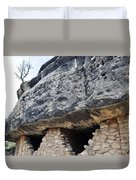 Walnut Canyon National Monument Cliff Dwellings Duvet Cover