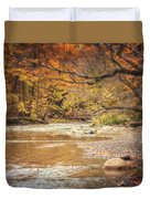 Walnut Creek In Autumn Duvet Cover